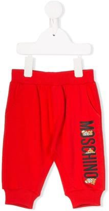 Moschino Kids bear print track pants