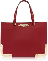 RED Valentino Medium Double Handle Leather Bag