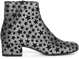 Saint Laurent Babies star-embellished glitter ankle boots
