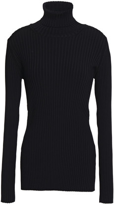 Proenza Schouler Button-detailed Ribbed-knit Turtleneck Sweater
