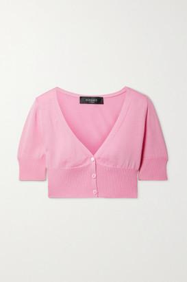 Versace Cropped Wool Cardigan - Pink