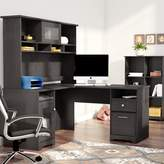 Hillsdale Red Barrel Studio 2 Piece Office Set with Hutch Red Barrel Studio Color: Espresso Oak