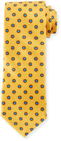 Canali Multi-Circles Silk Tie, Yellow