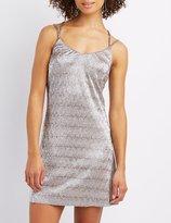 Charlotte Russe Metallic Strappy Slip Dress