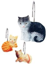 Carnation Home Fashions Kitty Heaven Resin Shower Curtain Hooks (Set of 12)