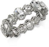 Charter Club Silver-Tone Crystal Stretch Bracelet, Only at Macy's