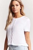 Forever 21 Lace Paneled Top
