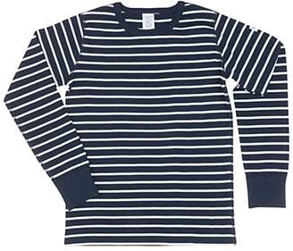 Polarn O. Pyret Children's GOTS Organic Cotton Stripe Long Sleeve Top