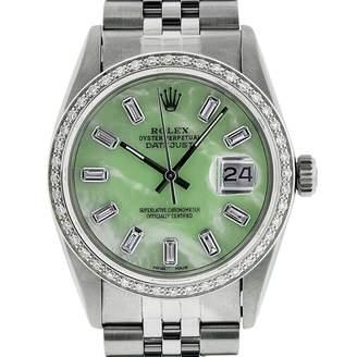 Rolex Datejust 36mm Green Steel Watches