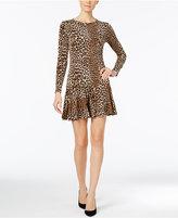 MICHAEL Michael Kors Animal-Print Flare-Hem Dress