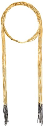 Iosselliani Black Hole Sun scarf necklace