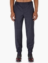 Éditions Mr Navy Wool Cuff-hem Trousers