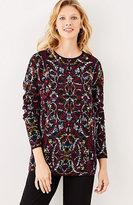 J. Jill Jacquard-Tapestry Relaxed Pullover
