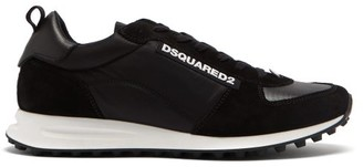 DSQUARED2 New Hiking Suede And Neoprene Trainers - Black