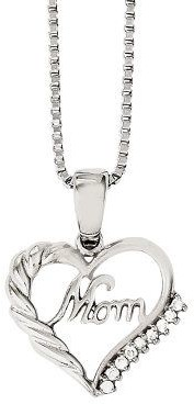 "Steel By Design Stainless Steel Open Heart ""Mom"" Pendant w/ 18""Chain"