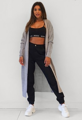 Missguided Grey Maxi Cardigan