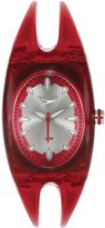 Speedo Women's Bangle SD50593 Red Silicone Quartz Watch with Dial