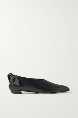 Proenza Schouler Bow-embellished Leather Ballet Flats - Black