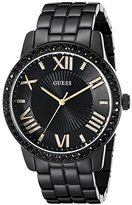 GUESS Women's U0329L5 Classic Black & Gold-Tone Watch with Roman Numerals
