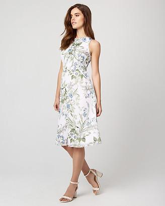 Le Château Floral Print Chiffon Flowy Midi Dress