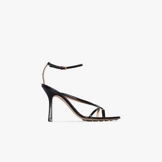 Bottega Veneta Womens Black 95 Knot Strap Nappa Leather Sandals