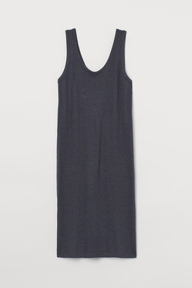 H&M Fitted Linen-blend Dress