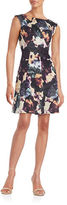 Gabby Skye Floral Pleated Dress