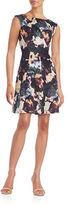 Gabby Skye Plus Floral Pleated Dress