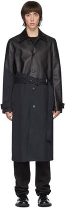 Bottega Veneta Navy and Black Trench Coat