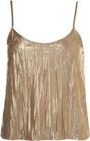 Foil Metallic Crinkle Cami Top