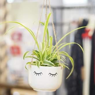 TheLittleBoysRoom Ceramic Eyes Shut Hanging Planter
