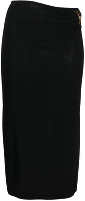 Versace Ring-Gathered Tube Skirt