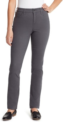 Gloria Vanderbilt Women's Mid Rise Rail Straight-Leg Jeans