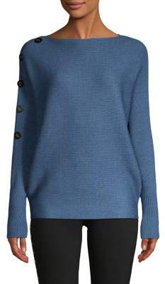 Philosophy di Lorenzo Serafini Ballet Dolman Button-Sleeve Sweater