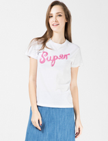 Lazy Oaf White Super Fitted T-Shirt