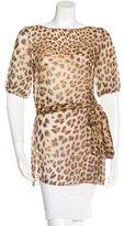 Blumarine Leopard Print Tie Tunic