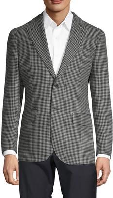 Lubiam Wool & Linen Houndstooth Blazer