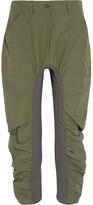 Stella McCartney Tina Jersey-paneled Canvas Pants - Army green