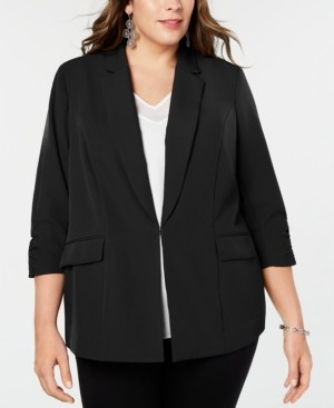 INC International Concepts Inc Plus Size 3/4-Sleeve Blazer, Created for Macy's
