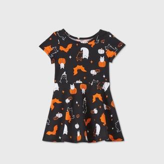 Cat & Jack Toddler Girls' Short Sleeve Halloween Print Dress - Cat & JackTM