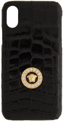 Versace Black Medusa Croc iPhone X CSS Case