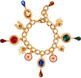 Dolce & Gabbana Gold-plated Swarovski Crystal Charm Bracelet - one size