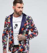 Reclaimed Vintage Inspired Blazer In Floral Print