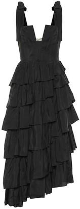 Ulla Johnson Valentina silk taffeta midi dress