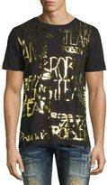 Robin's Jeans Golden Foil Logo T-Shirt, Black