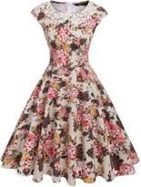 ACEVOG Beautiful Retro Cute Formal Dress Skater Dress for Women