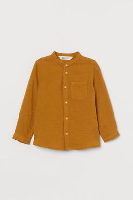 H&M Cotton grandad shirt