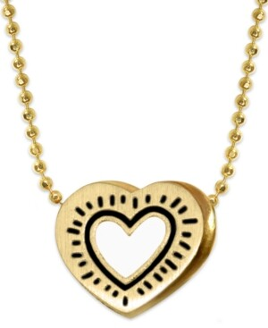 Heart Compass Pendant inspired by Keith Haring