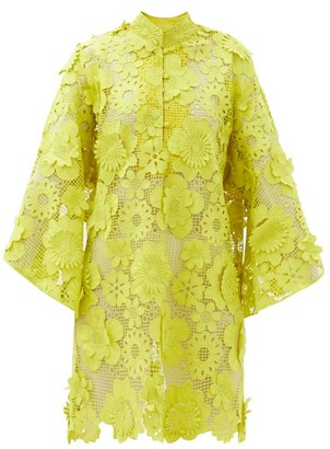 La Vie Style House - No. 488 Guipure-lace Kaftan - Yellow