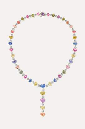 Bayco 18-karat Gold, Platinum, Diamond And Sapphire Necklace